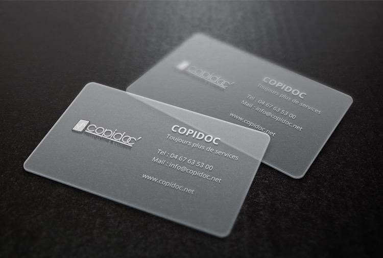 Cartes de Visites Transparentes COPIDOC Web
