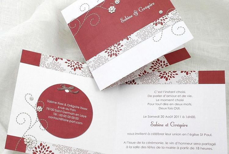 Faire Part Invitation Mariage Copidoc